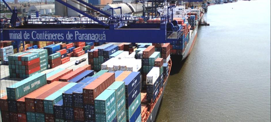 Puerto brasileño de Paranaguá que recientemente ha sido concesionado a una empresa de China. En El Salvador otra empresa china pretende que le concesionen un puerto que por años se ha mantenido casi inutilizado debido a los costos de operación.