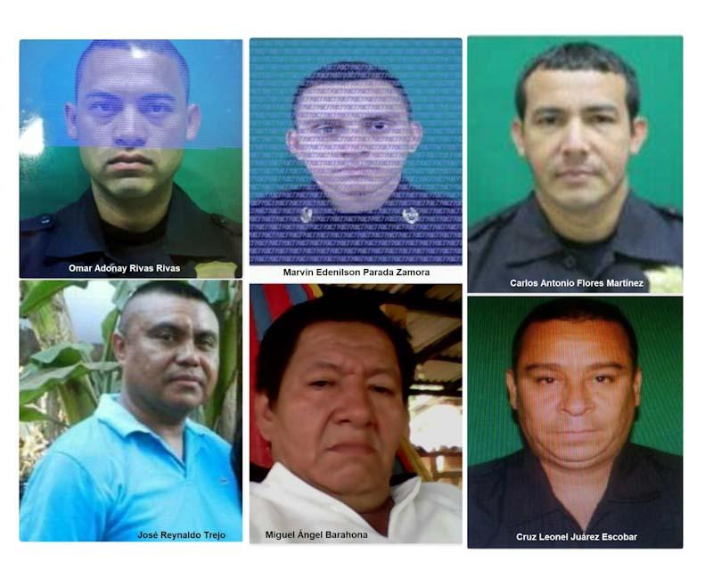 Policías asesinados en los primeros 17 días de 2019 por grupos de pandilla.